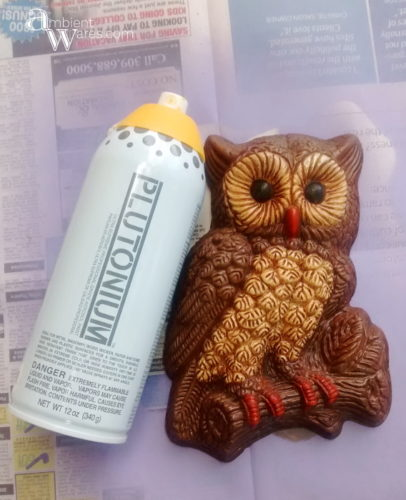 Plutonium_Spray_Paint_Rummage_Sale_Finds_and_A_Quick_Refurbished_Vintage_Owl_Wall_Hanging_Project - ambientwares.com