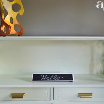 DIY_Refurbished_Painted_Furniture_Secretary_Desk_Hello_Sign_ambientwares.com