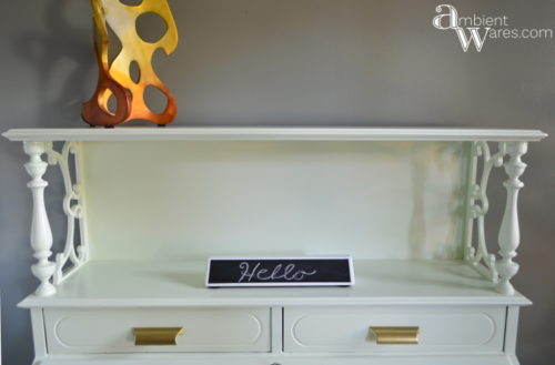 DIY_Refurbished_Painted_Furniture_Secretary_Desk_Hello_Sign_ambientwares.com