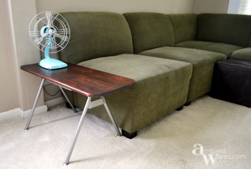 Finished-Plastic-Bucket-Chair-Repurposed-to-Side-Table-Using-The-Metal-Legs-Only-ambientwares.com