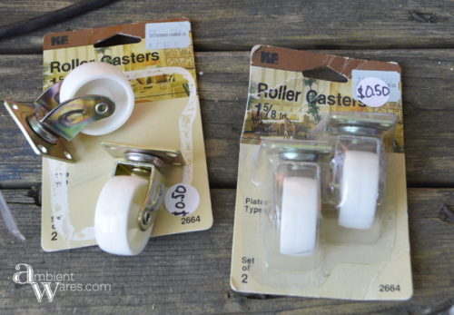 Repurposed_Upside_Down_Stool_Gift_Wrapping_Paper_Ribbon_Station_Casters_ambientwares.com