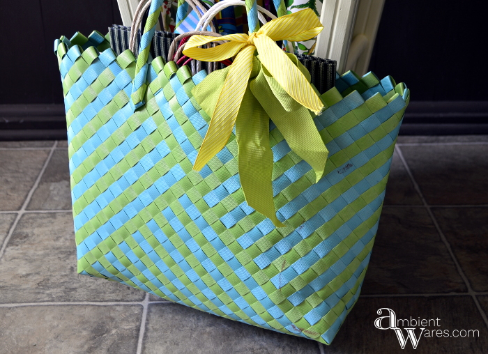 Repurposed_Upside_Down_Stool_Gift_Wrapping_Paper_Ribbon_Station_Finished_Project_8_ambientwares.com
