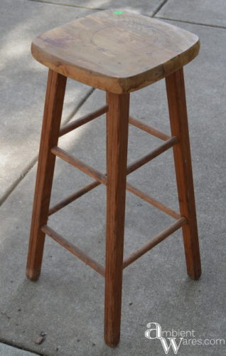 Repurposed Stool To Gift Wrapping Storage Station