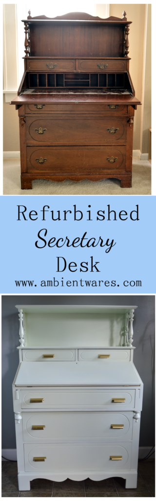 Secretary Desks are so beautiful and this one is no exception! See how it's completed from beginning to end. ambientwares.com