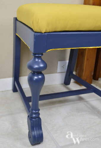Nautical Colored DIY Chair Makeover ~ AmbientWares.com