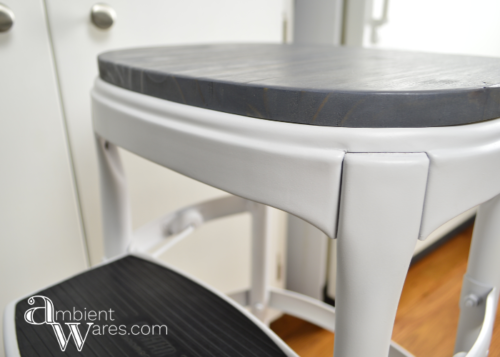 This Vintage Cosco Step Stool got a modern farmhouse makeover! www.AmbientWares.com