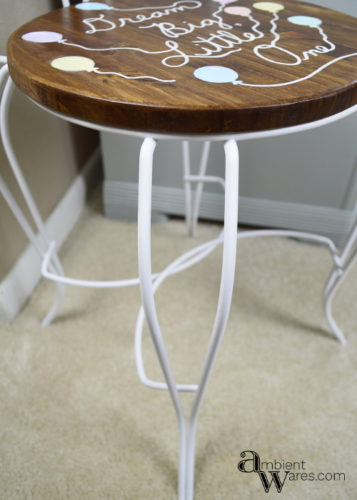 This vanity stool gets a great little makeover! Your little one would love a chair like this! Find inspiration at AmbientWares.com!