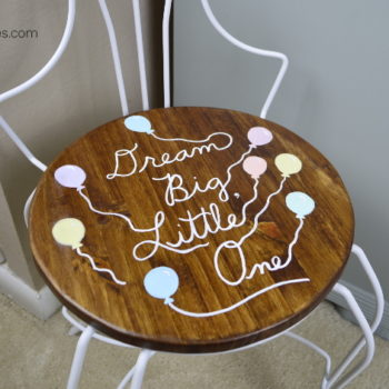 This vintage vanity chair gets a great little makeover. Your little one would love a chair like this! Find inspiration at AmbientWares.com!