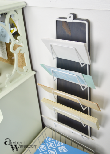 Every home office needs a central spot to corral bills, letters, and envelopes. Update an old metal office organizer that will make you want to stay organized! Visit AmbientWares.com for more great project ideas!