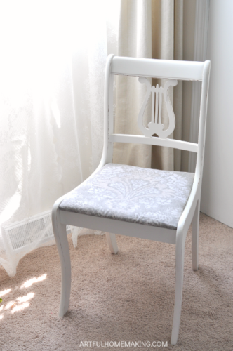 Raw Silk Fusion Mineral Painted Chair Makeover