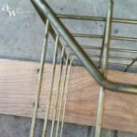 This mesh metal basket is getting a pallet wood baskethellip