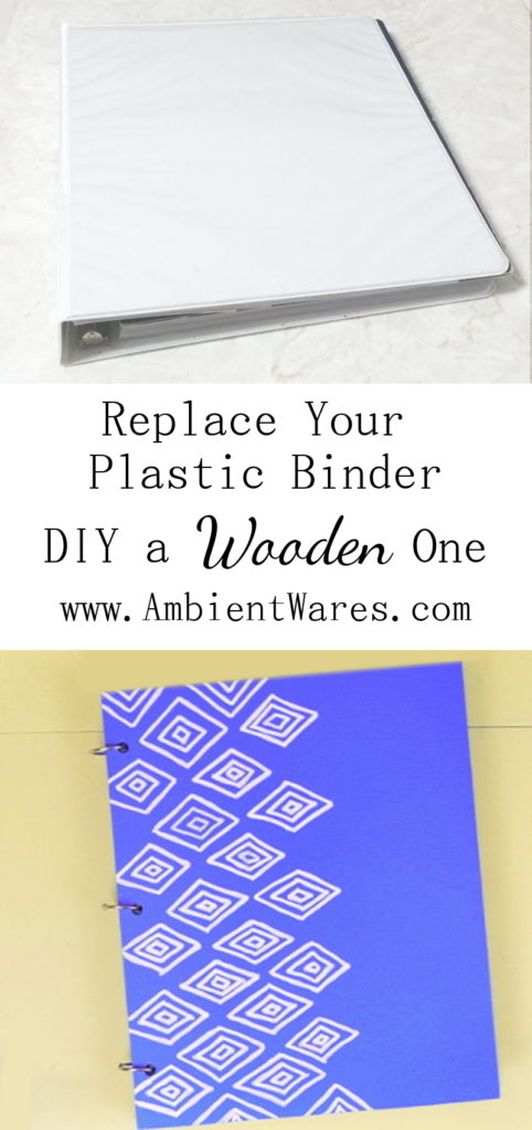 Replace that old plastic binder and DIY yourself a loose leaf ring wooden binder! To see this and more great ideas, visit AmbientWares.com!