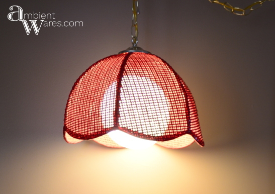 Please tell me you'd buy this vintage rattan swag lamp too if you found it at the thrift store! All this pendant lamp needed was new wiring so I bought a swag light kit and voila! For this and more fun project ideas, visit AmbientWares.com!
